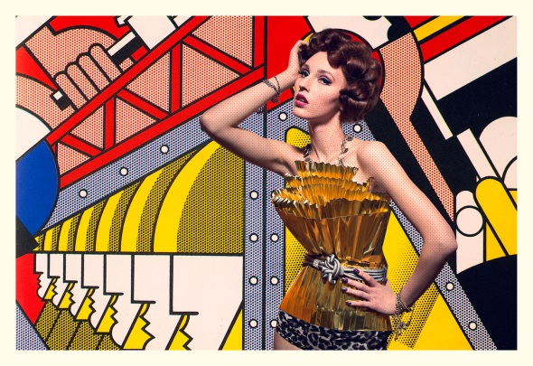 roy liechtenstein, make-up, shoot, style, beauty, effect make-up, colorful